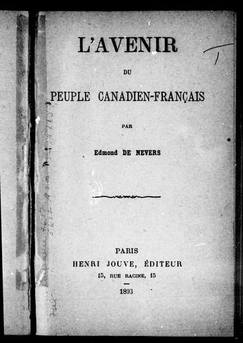 Download L' avenir du peuple canadien-français