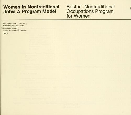 Women in nontraditional jobs: a program model.