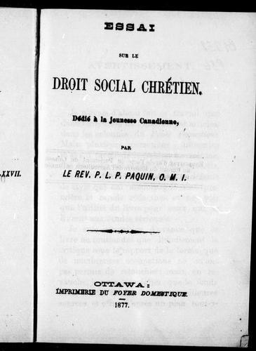 Download Essai sur le droit social chrétien