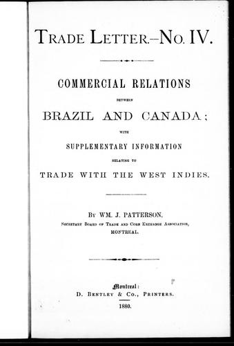 Download Commercial relations between Brazil and Canada