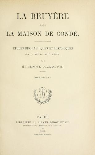 Download La Bruyère dans la maison de Condé.
