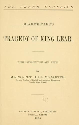 Shakespeare's tragedy of King Lear.