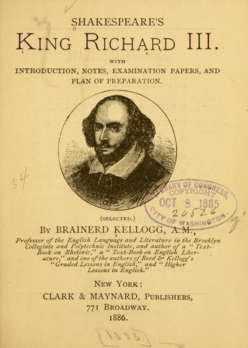 Shakespeare's King Richard III.