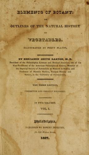 Download Elements of botany