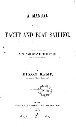 Download A manual of yacht and boat sailing