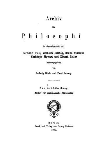 Archiv für systematische Philosophie