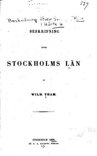 Beskrifning öfver Sveriges Rike