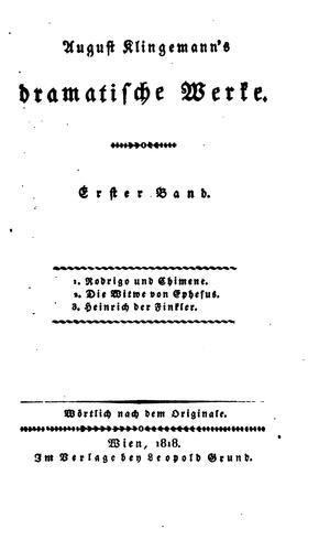 August Klingemann's dramatische Werke