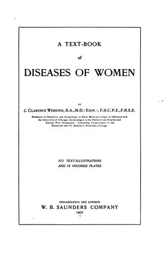 A Text-book of diseases of women