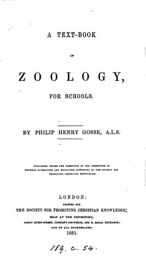 A text-book of zoology for schools
