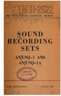Cover of: Sound Recording Sets AN/UNQ-1 And AN/UNQ-1A