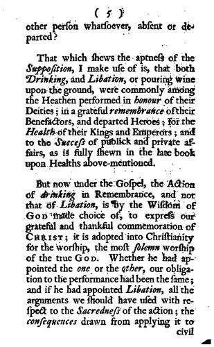 A Letter to a Reverend Gentleman in Oxford, on the Subject of Drinking Healths by Peter Browne