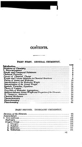 A Compendium of Chemistry: Including General, Inorganic, and Organic Chemistry by Carl Arnold