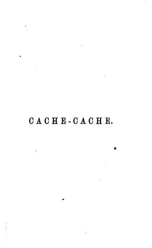 Cache-cache: a tale in verse by William Davy Watson