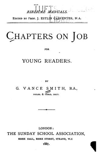 Chapters on Job for Young Readers by George Vance Smith