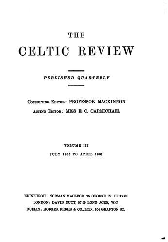 The Celtic Review by Donald Mackinnon